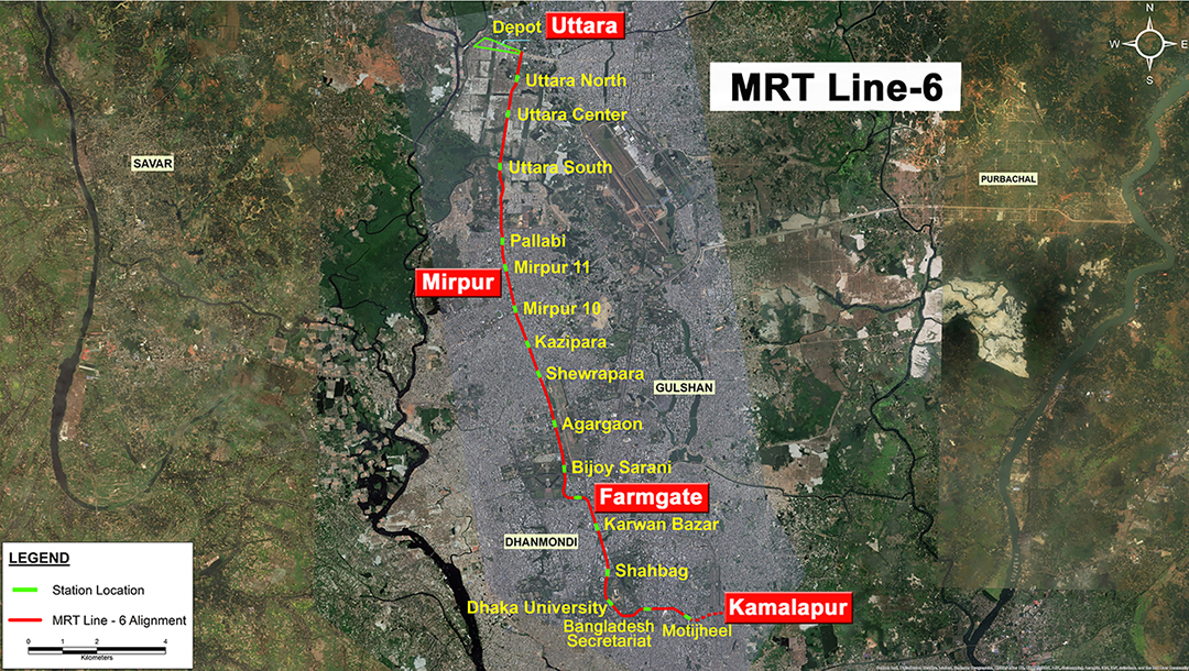 Route Alignment of MRT 6