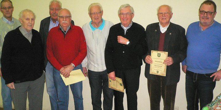 Mitgliederversammlung 2017 mit Ehrungen für 60 Jahre Vereinstreue