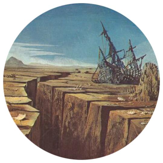 """Vermilion Sands – 5 Illustrazione di Karel Thole per """"Il Vampiro del Mare"""" di Charles Eric Maine - Urania 513"""