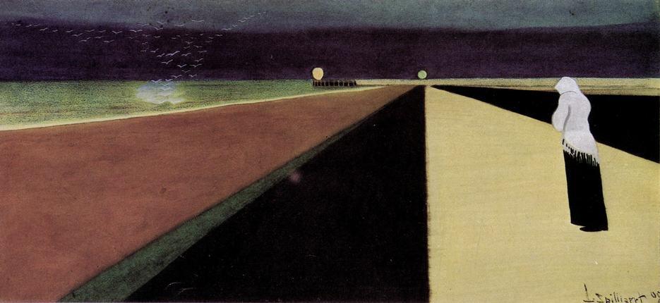 Léon Spilliaert: Donna sulla Diga (1907)