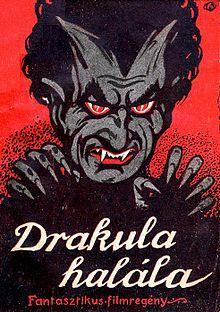 La locandina del film Drakula halála (1921)