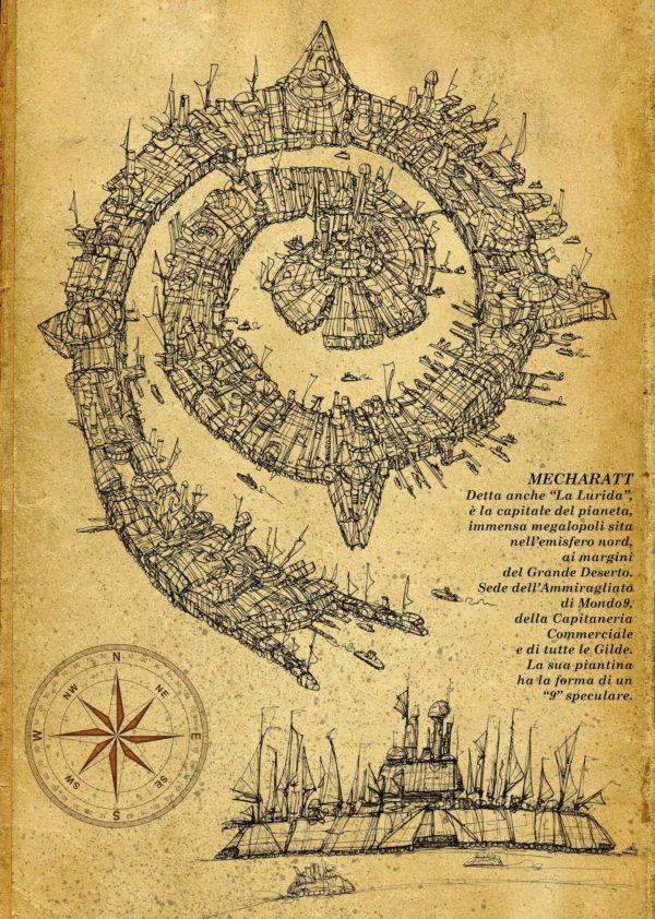 "Mondo 9 Mecharatt ""la lurida"" disegnata da Franco Brambilla"