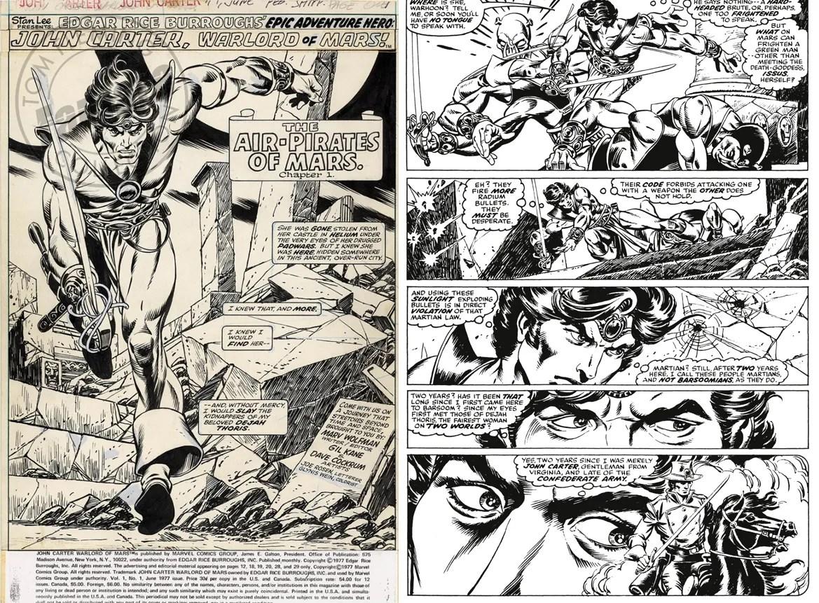 JOHN CARTER Warlord of Mars disegnato da Gil Kane