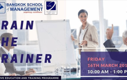 Date: March 16: Train the Trainer