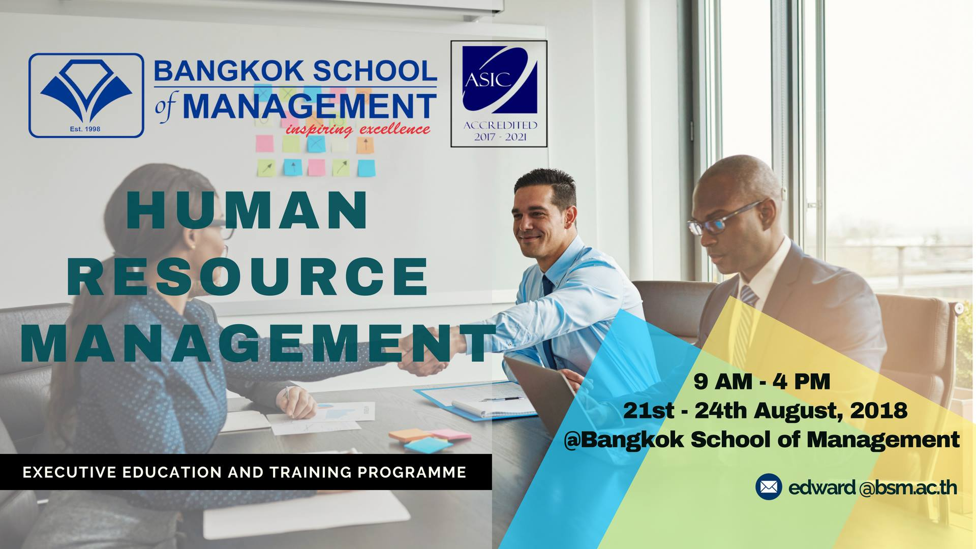 Date: August 21th &#8211; 24th </br></br>Human Resource Management