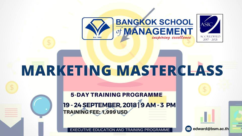 Date: September 19th &#8211; 24th </br></br> Training Programme: Marketing Masterclass