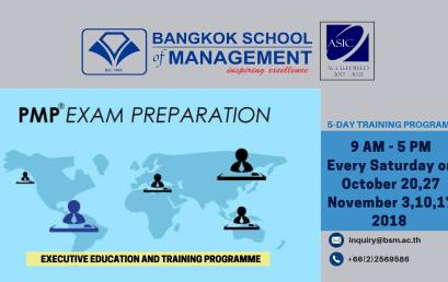 Date: October 20 & November 3,10 and 17 Training Programme: PMP Exam Preparation