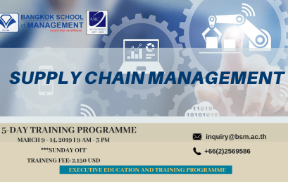 Date: March 9 – 14, 2019  Supply Chain Management