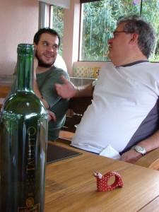 Nessa foto quem se saiu bem foi o vinho...