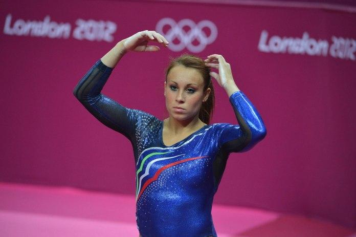 L'atleta Vanessa Ferrari alle Olimpiadi di Londra del 2012