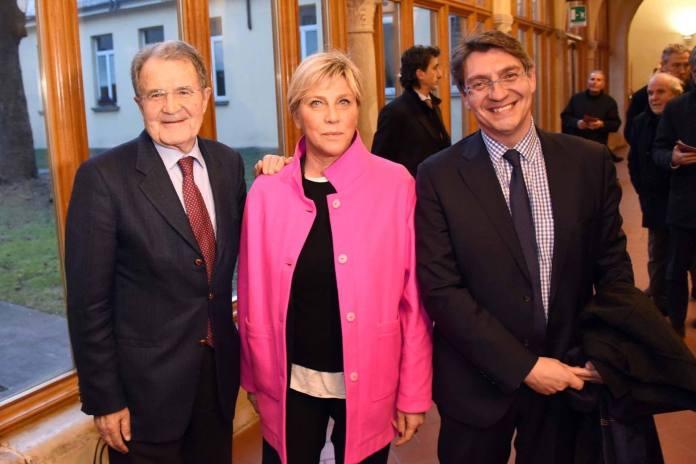 Romano Prodi, Laura Castelletti ed Emilio Del Bono. www.bsnews.it