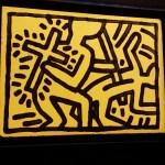 Un'opera di Keith Haring dalla mostra About Art di Palazzo Reale a MIlano - foto www.bsnews.it
