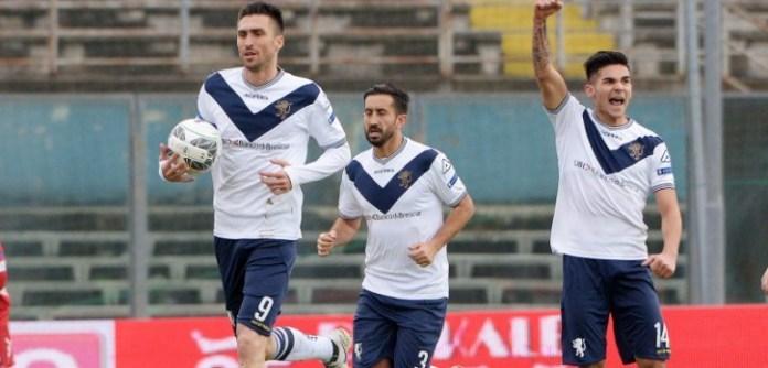 Brescia - Pisa, Serie B, esultanza. Foto da sito Brescia Calcio - www.bsnews.it