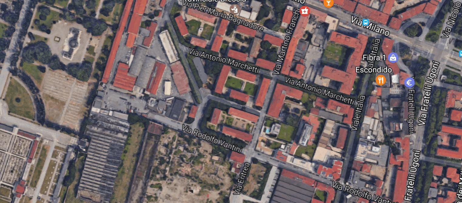 Campo Fiera, foto aerea da Google