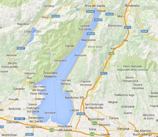 Mappa del lago di Garda