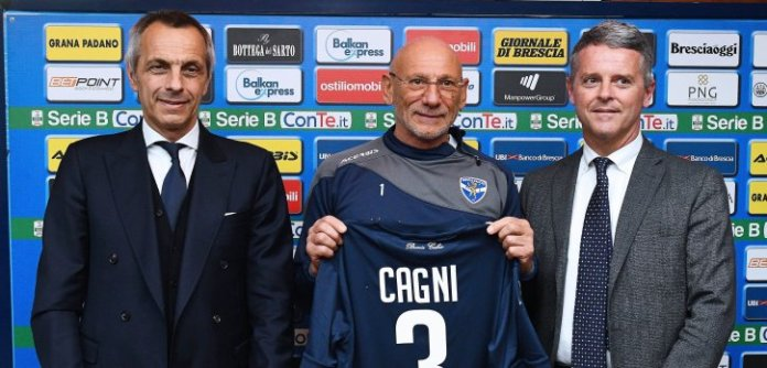 Allenatore del Brescia, Gigi Cagni, foto da sito ufficiale Brescia Calcio - www.bsnews.it
