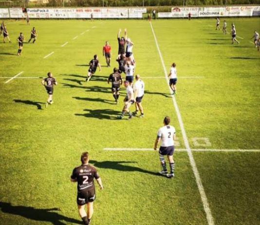 Un'immagine della sfida tra Colorno e Rugby Brescia - foto da ufficio stampa - www.bsnews.it