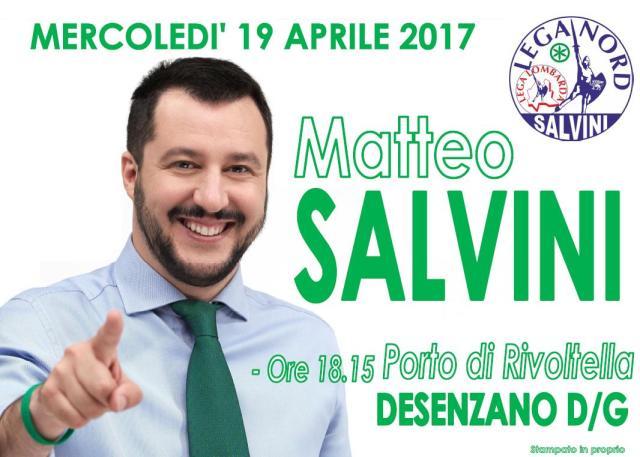 Matteo Salvini (Lega) a Desenzano