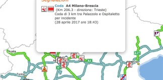 Autostrada A4, incidente tra Palazzolo e Ospitaletto, www.bsnews.it