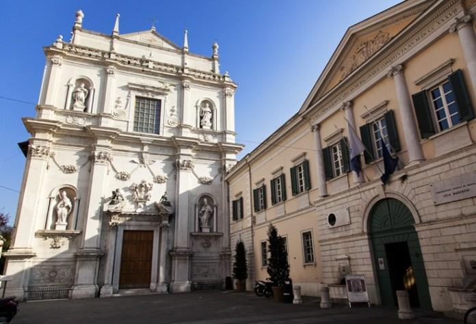 L'auditorium San Barnaba e il conservatorio musicale a Brescia