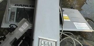 Uno sportello del bancomat preso di mira dai malviventi - www.bsnews.it