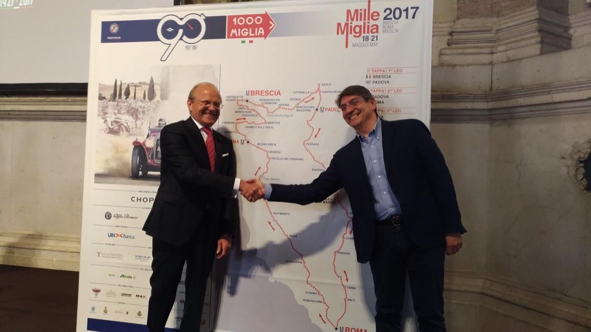 Mille Miglia a Roma: 19-20 maggio tappa evento per la 90esima edizione