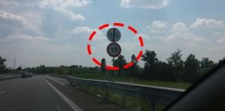 Il curioso cartello con la brusca variazione di limite di velocità sulla provinciale che porta a Castegnato, foto di Jessica D'Amato, www.bsnews.it