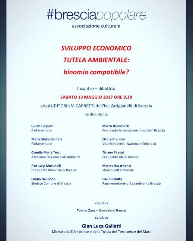 La locandina dell'evento promosso da Brescia Popolare