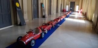 Mille Miglia 2017, un'installazione nell'ex tribunale, foto Andrea Tortelli, www.bsnews.it