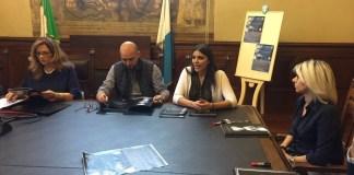La conferenza stampa di presentazione di Frozen Moon, al centro Nicola e Lucia Orto, foto da ufficio stampa, www.bsnews.it