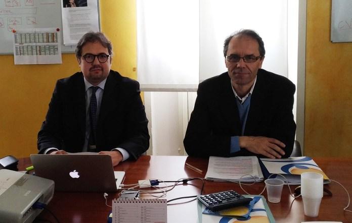 Marco Pardo e Alberto Martinuz, rispettivamente direttore e presidente dell'istituto Zanardelli di Brescia, foto Andrea Tortelli, www.bsnews.it
