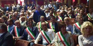 La delegazione della Provincia di Brescia in occasione della giornata di mobilitazione delle Province a Roma