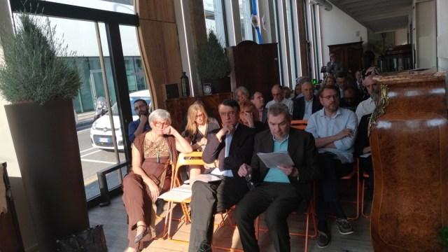 Il pubblico del dibattito sulla Brescia del 2030: in prima fila Claudio Bragaglio e Ettore Isacchini, foto Andrea Tortelli, www.bsnews.it