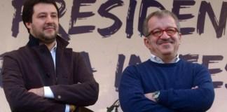 Matteo Salvini e Roberto Maroni