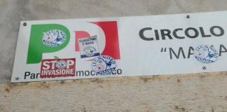 La sede del Pd di Gussago è stata vittima di vandali nelle scorse ore, foto da Facebook