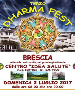 Banner Dharma fest di Brescia