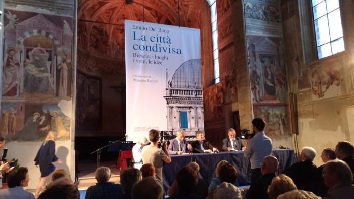 La presentazione del libro di Emilio Del Bono alla chiesa di San Cristo, foto www.bsnews.it
