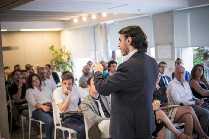Un momento del primo evento di Industrial Reboot ad Atena Brescia, foto da ufficio stampa