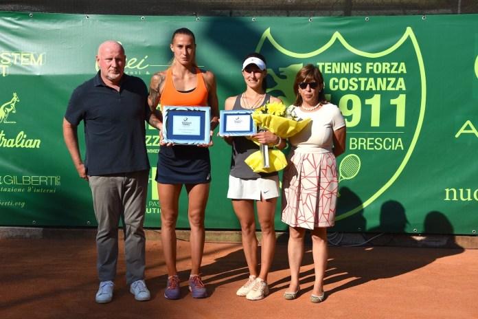 Le premiazioni al termine degli Internazionali di tennis - foto GAME