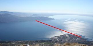 Il percorso della XGardawin, la traversata a nuoto da Torri del Benaco a Maderno