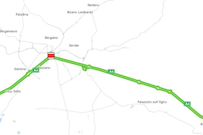 Il luogo dell'incidente secondo il sito di Autostrade per l'Italia