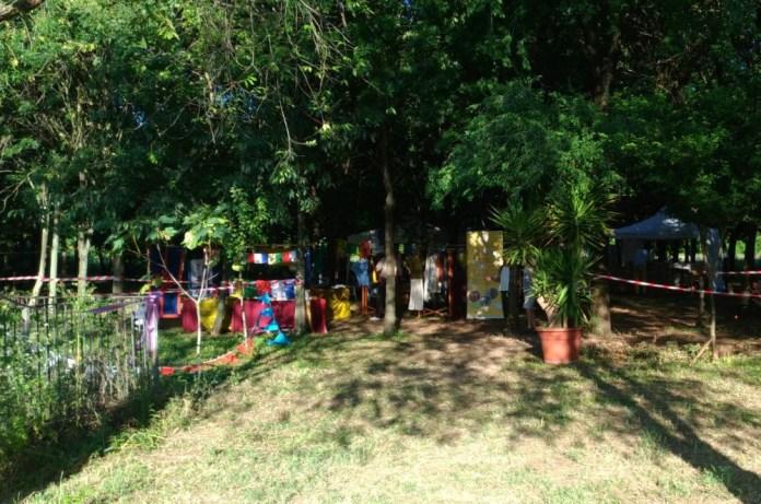 Uno scorcio del bosco del giardino di Casa Idea Salute a San Polo in occasione del Dharma Fest 2017, foto www.bsnews.it