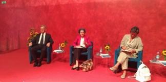 Eugenio Massetti, Emma Bonino e Nunzia Vallini all'assemblea 2017 di Confartigianato