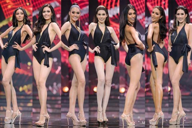Misss Thailandia, Pamela Pasinetti, con altre partecipanti al concorso