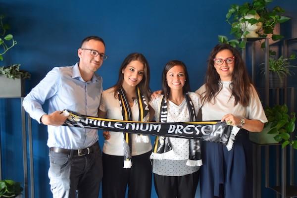 Da sinistra a destra: il GM del Millenium Emanuele Catania, Maria Chiara Norgini, Francesca Parlangeli e la responsabile de I Silvani Marcella Menichetti.