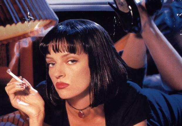 L'attrice Uma Thurman fuma nel celebre film Pulp Fiction
