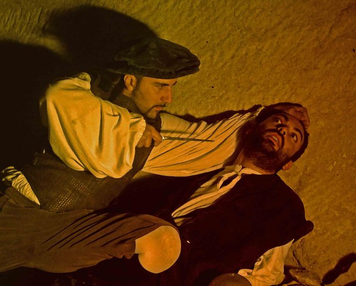 Il mito del bandito Zanzanù rivive in uno spettacolo della compagnia l'Archibugio: qui una foto di G. Beltrando inviata dall'ufficio stampa della compagnia teatrale