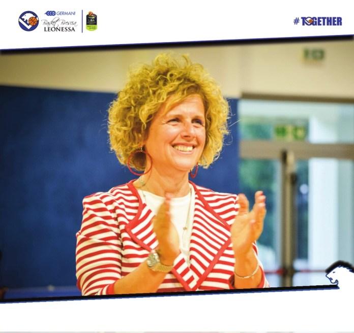 Graziella Bragaglio, presidente del Basket Brescia - foto da ufficio stampa