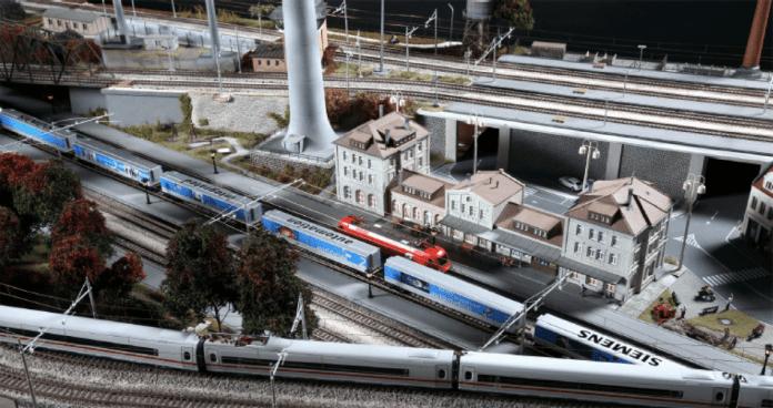 Un'immagine del grande plastico ferroviario in arrivo nel fine settimana al Leone di Lonato, foto da ufficio stampa