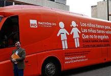Il bus antigender che ha viaggiato in Spagna